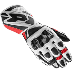 Spidi Carbo 1 Leather Sports Gloves - Black / Red