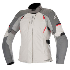 Alpinestars Stella Ares Ladies Gore-Tex Textile Motorcycle Jacket - Grey/Red - Alpinestars -  - MSG BIKE GEAR - 1