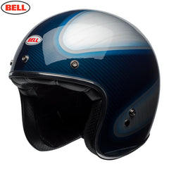 Bell 2018 Custom 500 Carbon Helmet - Jager Candy Blue