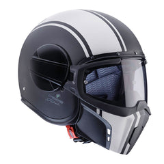 Caberg Ghost Open Face Streetfighter Motorcycle Helmet Legend Black/White - Caberg -  - MSG BIKE GEAR - 1