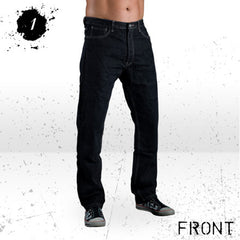 HORNEE SA-M1 RELAX FIT BOOTCUT MOTORCYCLE JEANS BLACK - Hornee -  - MSG BIKE GEAR - 1
