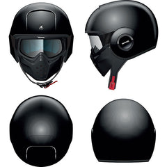 Shark Drak/Raw Urban Open Face Motorcycle Helmet with Goggles - Blank Black - Shark -  - MSG BIKE GEAR - 1