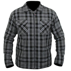 ARMR Armoured Aramid Motorcycle Shirt - Grey / Black