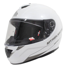 MT Rapide Solid Full Face Helmets - Pearl White