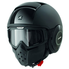 Shark Drak/Raw Open Face Motorcycle Helmet with Goggles - Dual Black - Shark -  - MSG BIKE GEAR - 1