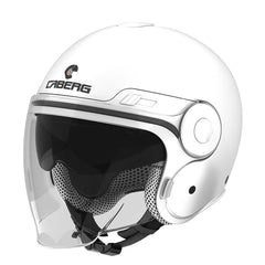 Caberg Uptown Classic Open Face Jet Motorbike Scooter Motorcycle Helmet White - Caberg -  - MSG BIKE GEAR - 1