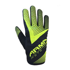 ARMR MX8 Motocross MX Motorcycle Gloves - Black / Fluo Yellow