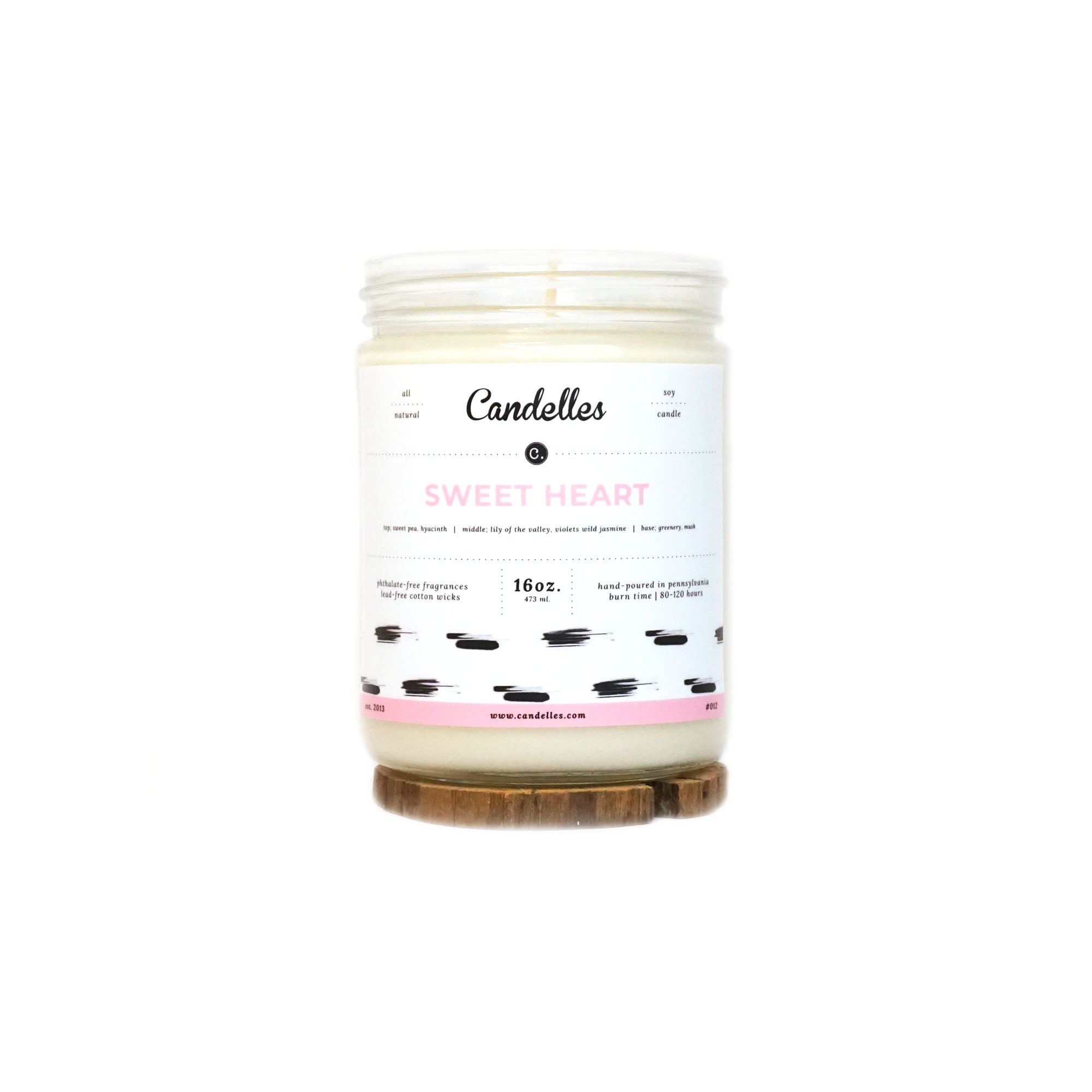 16oz Soy Candle - Sweet Heart