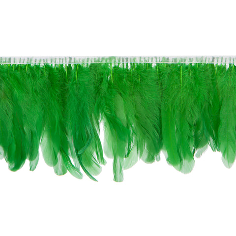 Grass Green Handmade Goose Duck Feather Trim Fringe