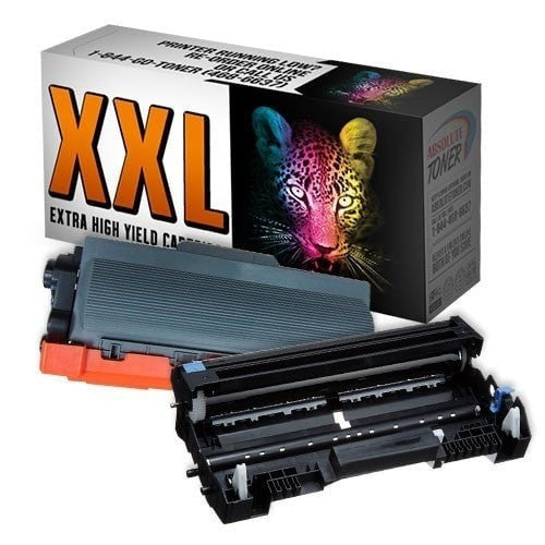 1 + 1 Brother TN-780 Double Capacity Black Toner + DR-720 Drum Unit Compatible Cartridge Combo (High Yield Of TN-750/TN-720)