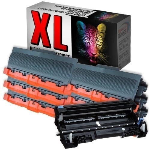 6 + 1 Brother TN-750 Black Toner + DR-720 Drum Unit Compatible Cartridge Combo (High Yield Of TN-720)