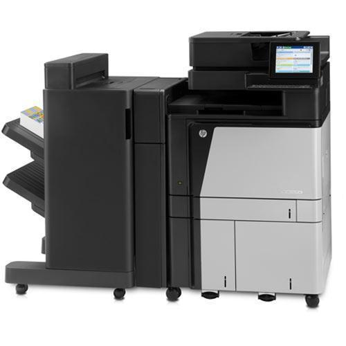Pre-owned A Crazy DEAL on an AMAZING Super Quality HP Color LaserJet Enterprise flow MFP M880 880 Copier Printer Scanner Fax Stapler Finisher Booklet Hole Punch REPOSSESSED
