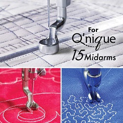 3 Piece Hopping Foot Set for Grace Qnique Longarms