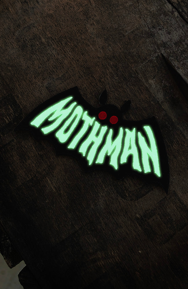 Mothman Symbol Patch - Cryptozoology Tracking Society - Glow in the Dark