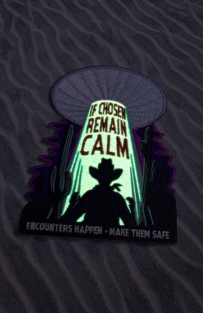 Safe Encounters™ - Alien Abduction Safety Patch - Glow in the Dark