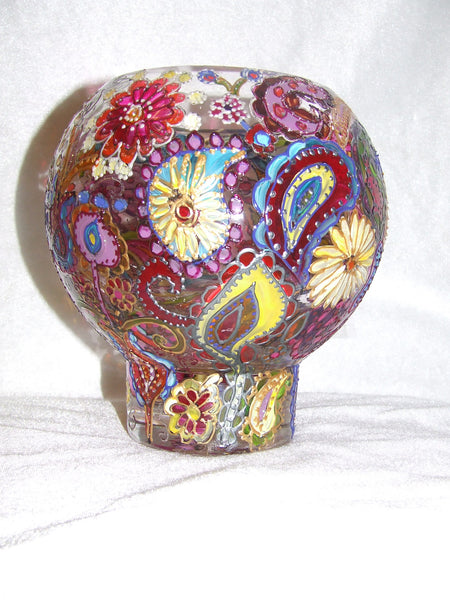 paisley style candle holder
