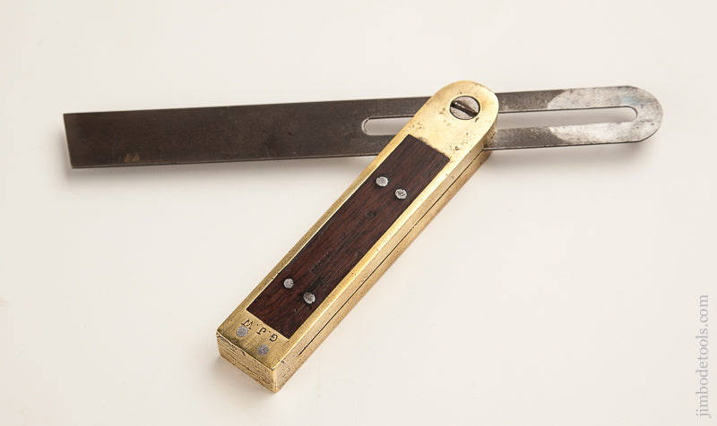 Nine inch Rosewood and Brass Bevel - 73788