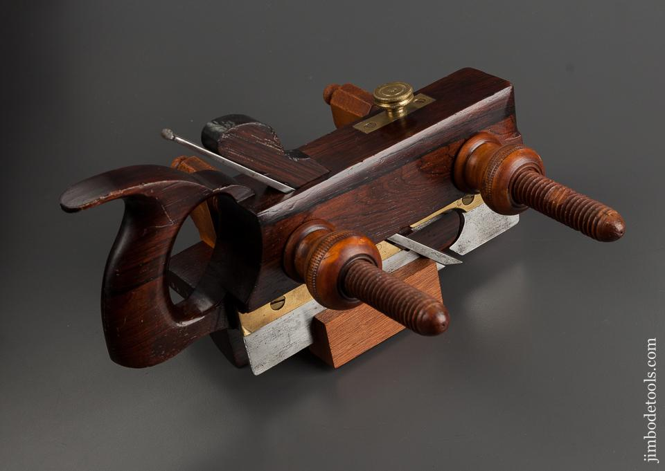 AUBURN TOOL CO Rosewood and Boxwood Plow Plane circa 1864-93 EXTRA FINE - 75248