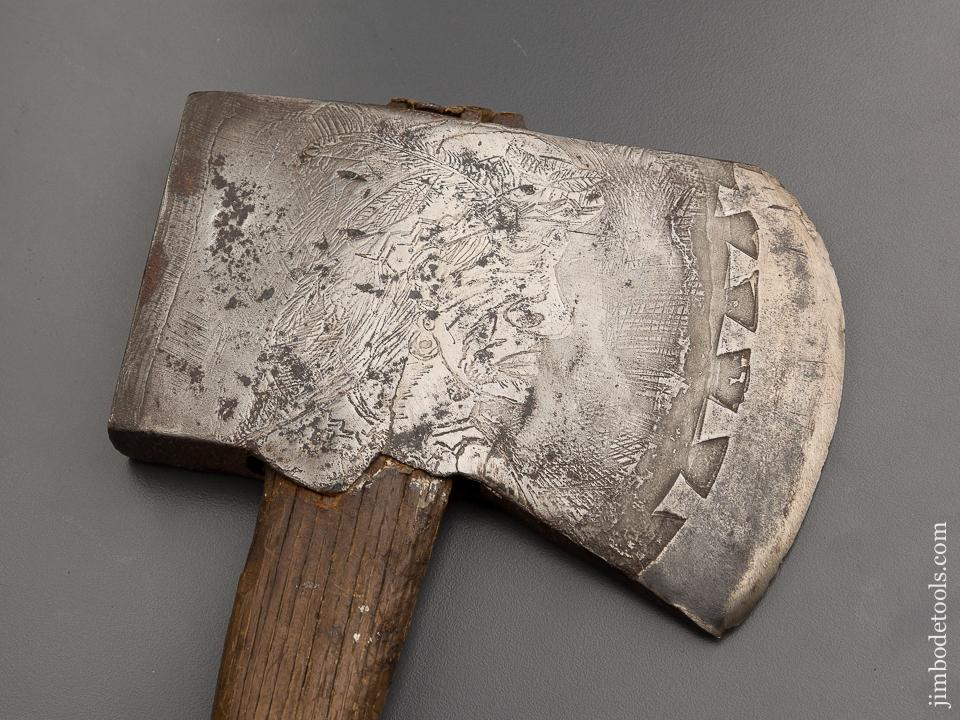 Jaw Dropping! Etched H. H. STRICKER Presentation Axe  - 78970RU