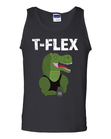 T-Flex men's dinosaur tank top black