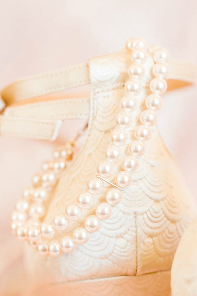 Classic bridal jewelry, two strand pearl bracelet by J'Adorn Designs