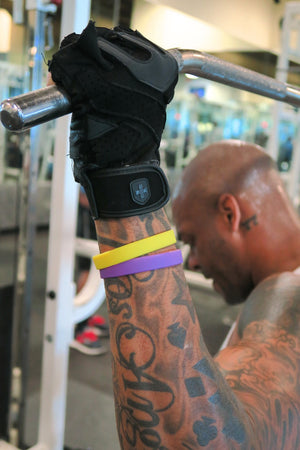 Slick Fitness Power Bands, purple & gold pair