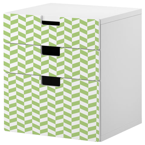 Green Interlock design STUVA Storage combination DecorPak