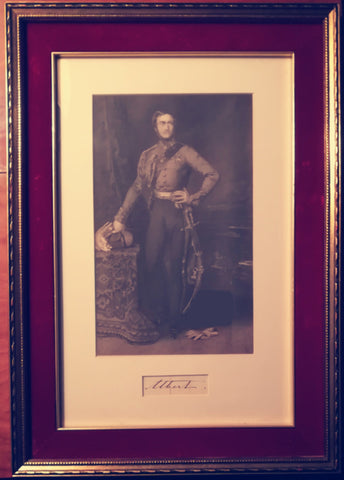 ALBERT Prince Consort - Signature framed with portrait