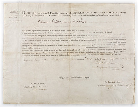 MARIE LOUISE - Document Signed as Regent 1813