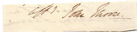 MOORE Sir John - Signature from end of a letter