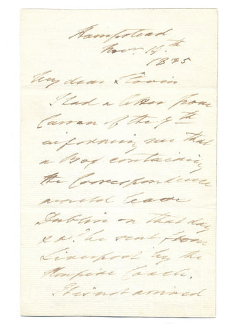 PAGET Henry - Autograph Letter Signed 1835