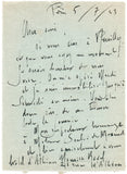 RAVEL Maurice - Autograph Letter Signed 1923 to a pioneer of acupuncture inviting him to visit