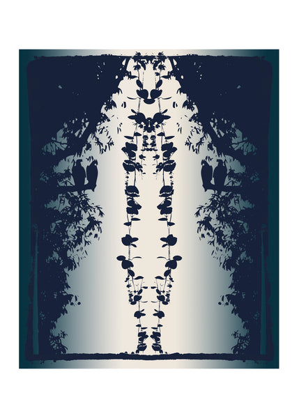 Kouamo - Penduline Wallpaper Blue Birght Shadow