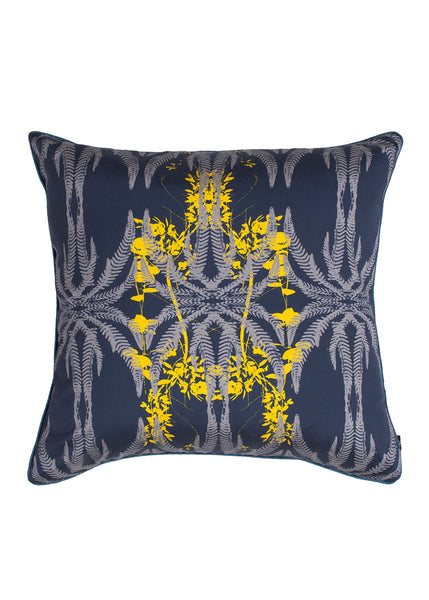 Kouamo - Jutias Silk Cushion (Night Sea)