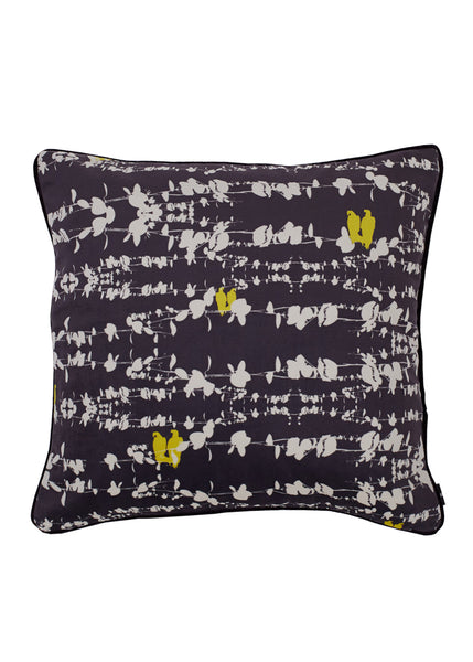 Bamena Dark Grey Velvet Cushion (Velvet night) 45 x 45cm