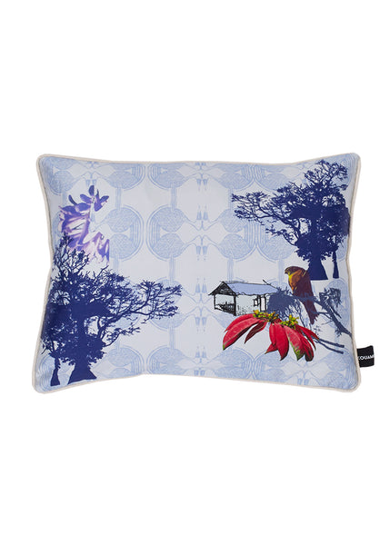 Esplanade Silk Cushion (Warm Blue)