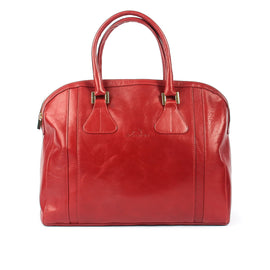 Ladies Calf Red Leather Smart Work Tote Bag