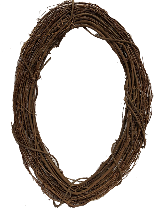 24in Oval Grapevine Wreath