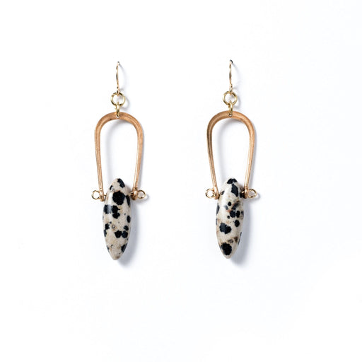 Amulet Earrings / Dalmatian Jasper - Michelle Starbuck Designs