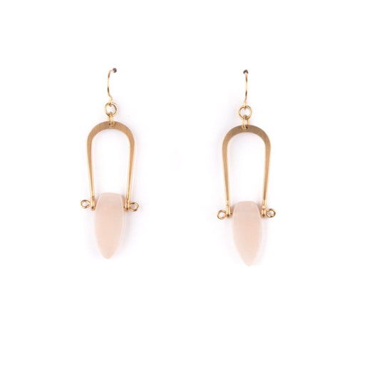 Amulet Earrings / Peach Aventurine - Michelle Starbuck Designs