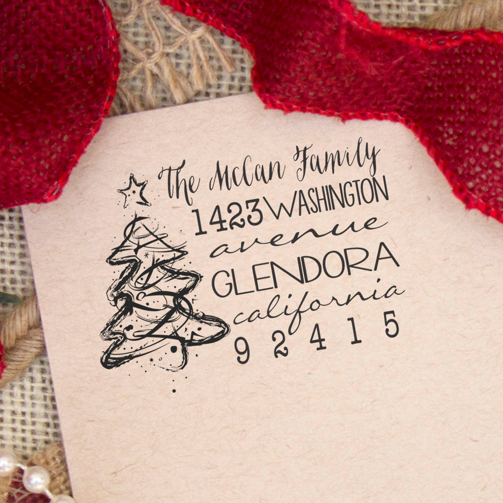 "Return Address Stamp, Custom Stamp, Personalized Address Stamp ""McCan Family"""