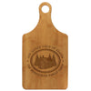 "Paddle Cutting Board ""Little Piece of Heaven Cabin"""