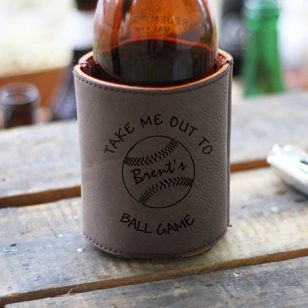 "Baseball, Take me Out to ""Brent's"" Ball Game, Beverage Holder"