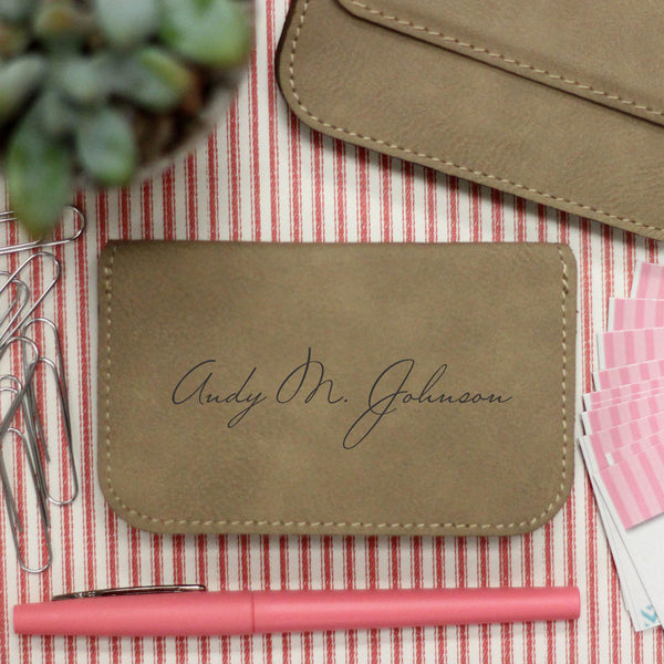 "Business Card Holder ""Andy Johnson Signature"""