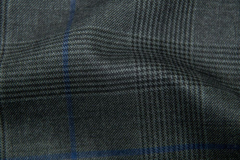 Endeavour Synergy CHARCOAL TRAM PLAID W/ ELECTRIC BLUE WINDOW PANE
