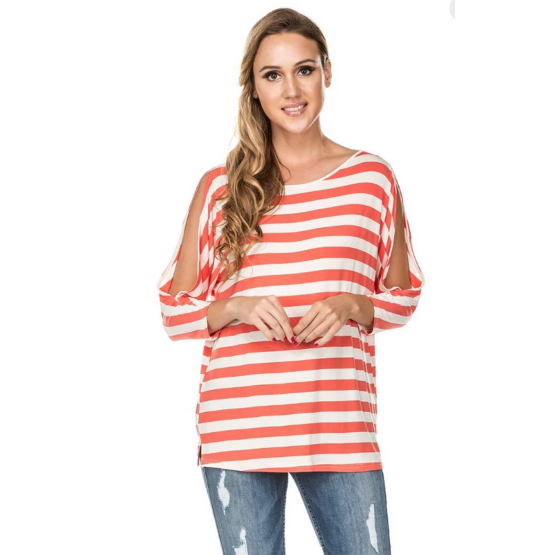 Joy Joy Split Sleeve - Coral