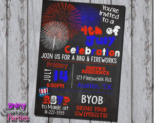 Printable 4th Of July Invitation (Digital File Only)-Digital Download, Printable File-Forever Fab Boutique