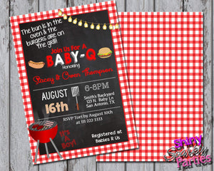 Printable BBQ Baby Shower Invitation (Digital File)-Digital Download-Forever Fab Boutique