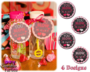 Printable Bubble Valentine Tags (Digital File Only)-Forever Fab Boutique