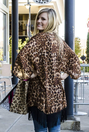 Walk on the Wild Side Leopard Print Kimono-Top-Forever Fab Boutique